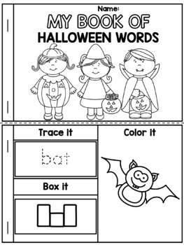 My Book of Halloween Words FREE