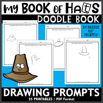My Book of Hats Sketchbook Drawing Prompts