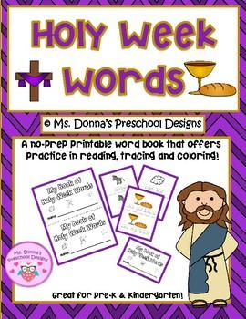 My Book of Holy Week Words