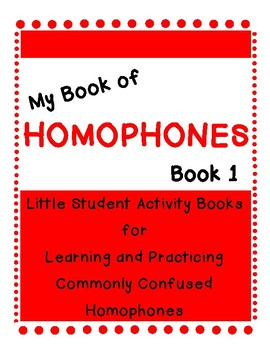 My Book of Homophones- Book One-Free