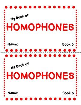 My Book of Homophones- Book Three