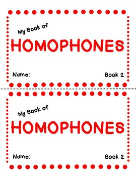My Book of Homophones- Book Two