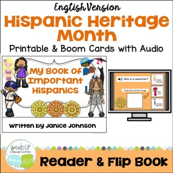 My Book of Important Hispanics {Hispanic Heritage Month} Readers & Flip book