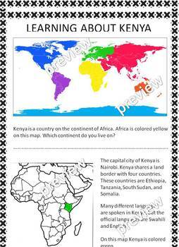 My Book of Kenya - the study of a country