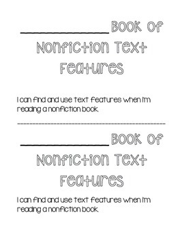My Book of Nonfiction Text Features