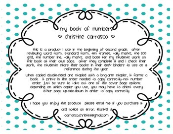 My Book of Numbers (Two Font Choices)