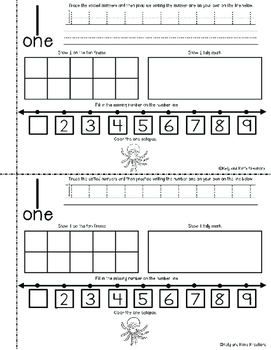 My Book of Numbers! {an interactive math activity for writing numerals 1-10}
