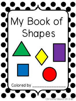 My Book of Shapes {Kindergarten}