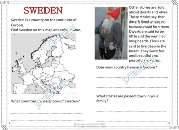 My Book of Sweden  - The Study of a Country