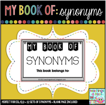 My Book of Synonyms