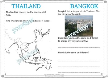 My Book of Thailand - The Study of a Country