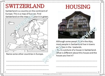 My Book of Switzerland - The Study of a Country