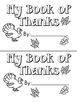 My Book of Thanks-Printable