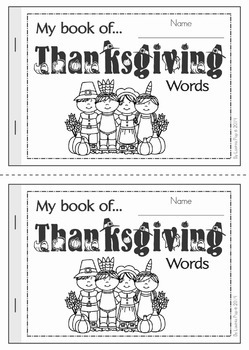 My Book of... Thanksgiving Words