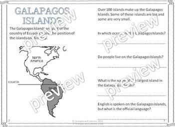 My Book of The Galapagos Islands  - (Country of Ecuador)