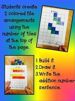 My Book of Tiles -  Kindergarten 1st Math NO PREP Number Composition Book