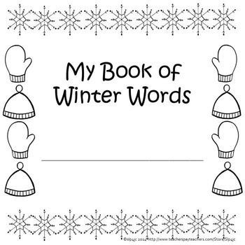 My Book of Winter Words Bundle (3 versions)