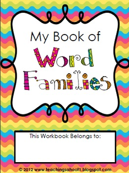 My Book of Word Families (long vowels)