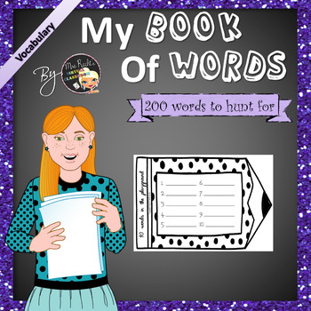 My Book of Words - ESL-EFL Vocabulary - Freebie