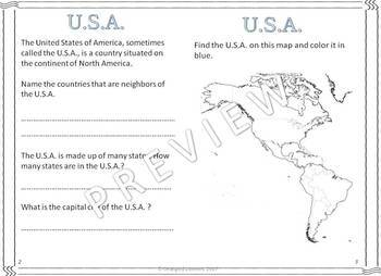 My Book of the U.S.A.  - The Study of a Country