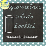 My Booklet of Geometric Solids - Cursive - Distance Learning