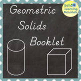 My Booklet of Geometric Solids - D'Nealian - Distance Learning