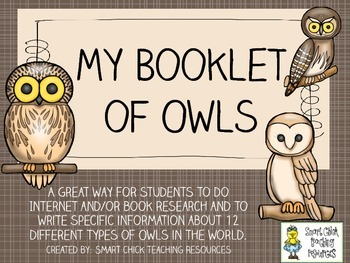 My Booklet of Owls ~ Research and Note-Taking Packet