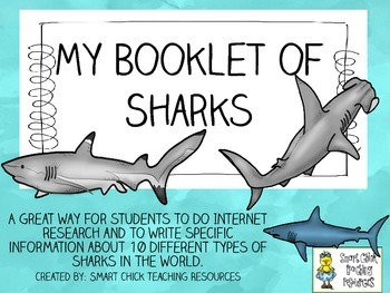 My Booklet of Sharks ~ Research and Note-Taking Packet