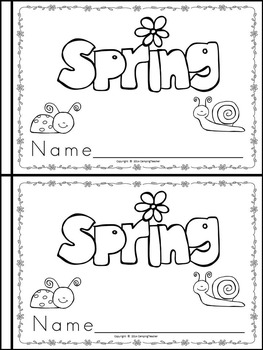 My Books about the Four Seasons {Set of 4 Books to create}