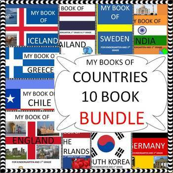 My Books of - 10 Country Bundle  - The Study of 10 Countries
