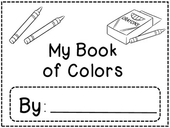 My Book of Colors: Activities for Color Labeling and Sentence Formulation
