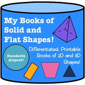 My Books of Flat and Solid Shapes- Differentiated Geometry Books