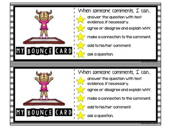 My Bounce Cards: Learning to BOUNCE off Students' Comments!! Also EDITABLE in PP