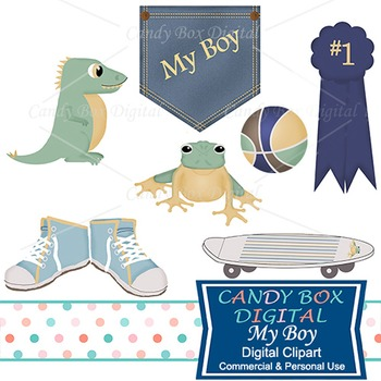 My Boy Clip Art for Baby or Youngster