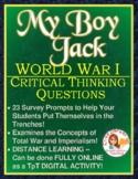 My Boy Jack -- World War I Critical Thinking Questions