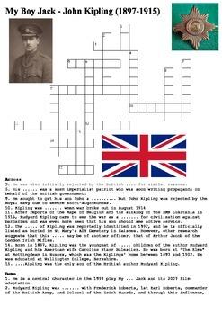 My Boy Jack - World War One Crossword