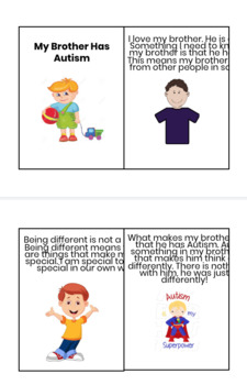 My Brother Has Autism Social Story