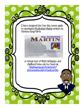 My Brother Martin 4-Day Lesson Plan