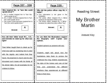 My Brother Martin - 4th Grade Reading Street