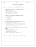 My Brother Martin Comprehension Assessment
