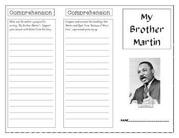 My Brother Martin Tri-Fold (JOURNEYS series)