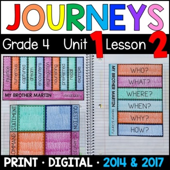 Journeys 4th Grade Lesson 2: My Brother Martin Supplemental & Interactive pages
