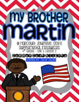 My Brother Martin (Journeys 4th Grade - Supplemental Materials)