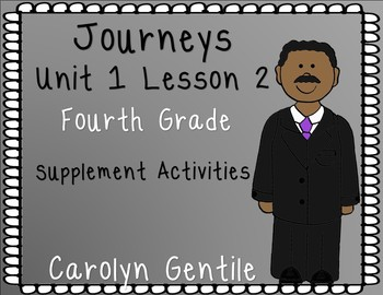 My Brother Martin Journeys Unit 1 Lesson 2 Fourth Grade Supp. Act.