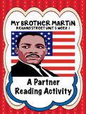 My Brother Martin  Reading Street 4th Grade partner read centers group work