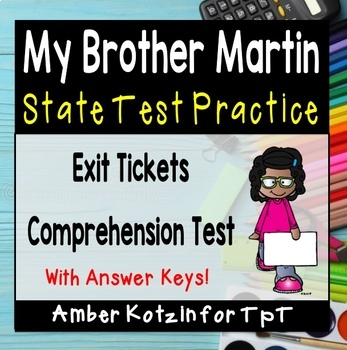 My Brother Martin State Test Prep - 4th Grade Journeys