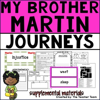 My Brother Martin Journeys 4th Grade Unit 1 Lesson 2 Activities and Printables