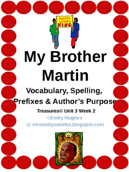 My Brother Martin Vocab. Spelling & Word Study Activities