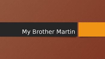 My Brother Martin Vocabulary Powerpoint