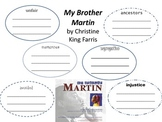 My Brother Martin Vocabulary Words - Treasures Reading Series